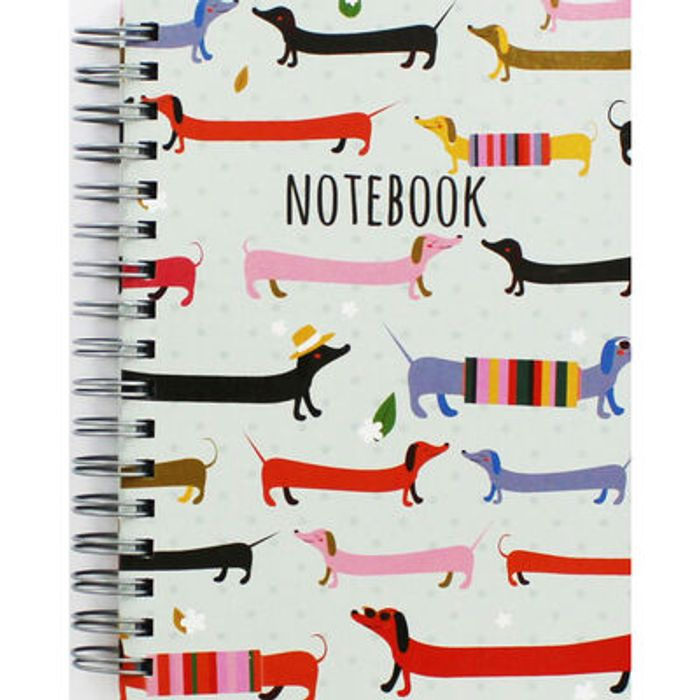 A6 Sausage Dog Lined Notebook