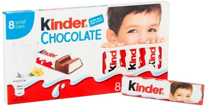 Kinder Chocolate Small Bars, 8 Bars