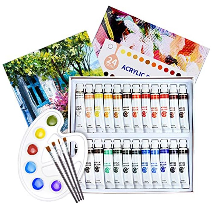 Choitak 30pcs Acrylic Paint Set with 24 Colours Paints - Only £6.99!