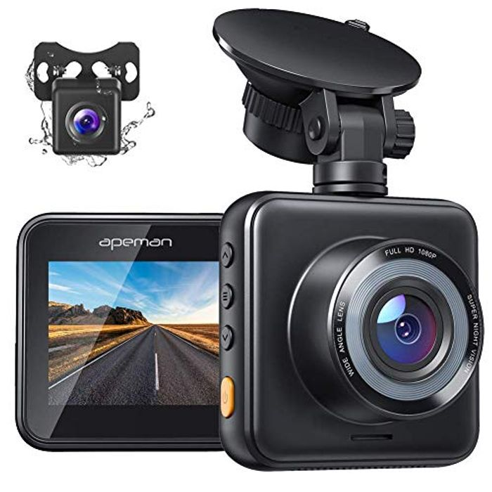 Front and Rear Dual Dash Cam with Night Vision