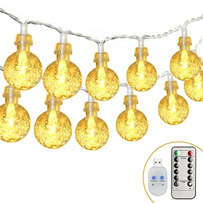 2 Pack 30 LED Waterproof outdoor Lights - USB Powered with 8 Modes + Remote