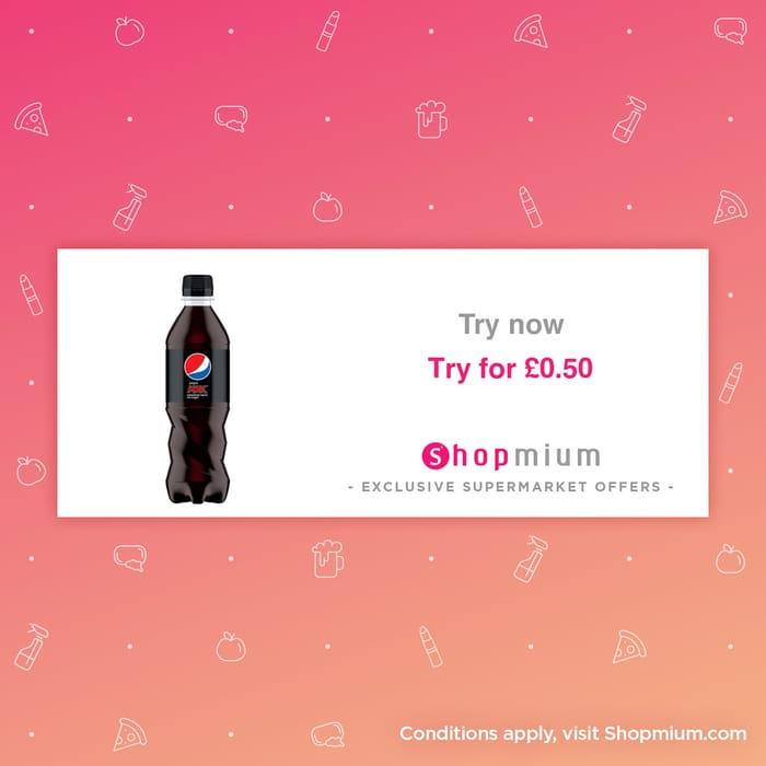 600ml Pepsi Max for 50p