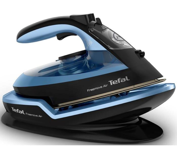 TEFAL Freemove Air FV6551 Cordless Steam Iron - Black & Blue