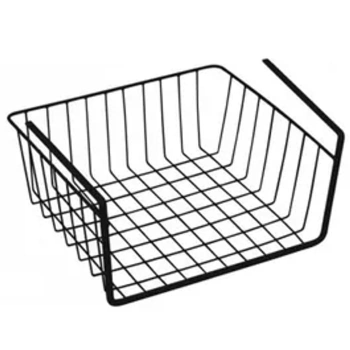 30cm Under Shelf Storage Basket In Black Or White
