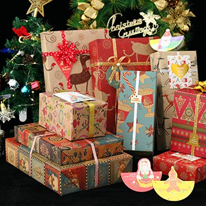 Christmas Gift Wrapping Paper 10 Pack