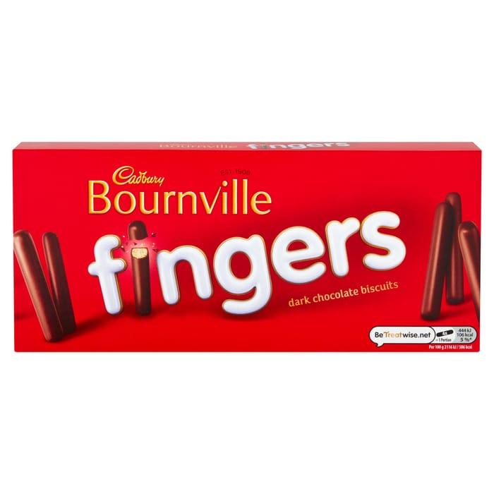 Cadbury Bournville Dark Chocolate Fingers Biscuits 114G