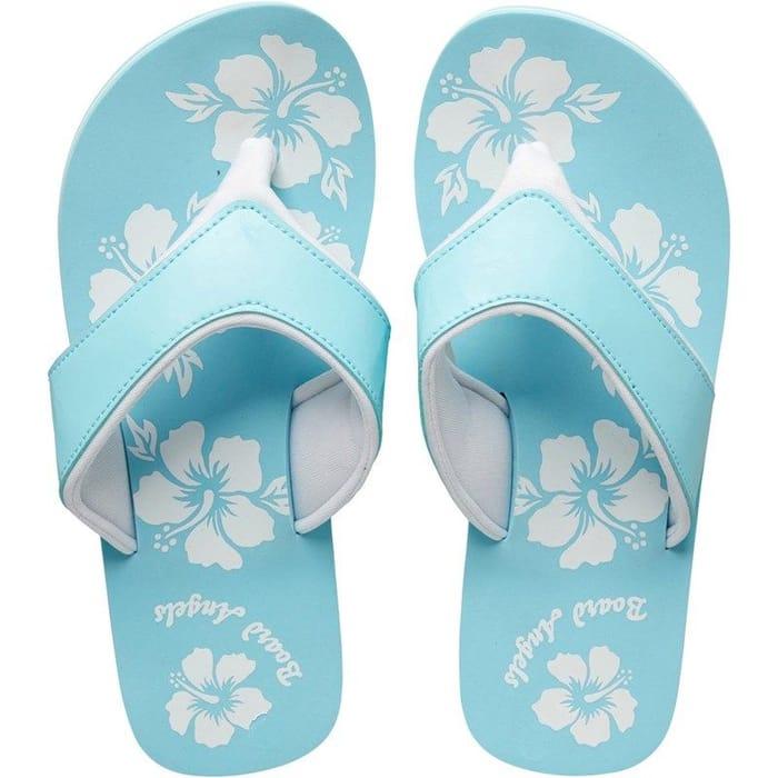 CHEAP! Board Angels Womens Eva Toe Post Sandals Aqua/White