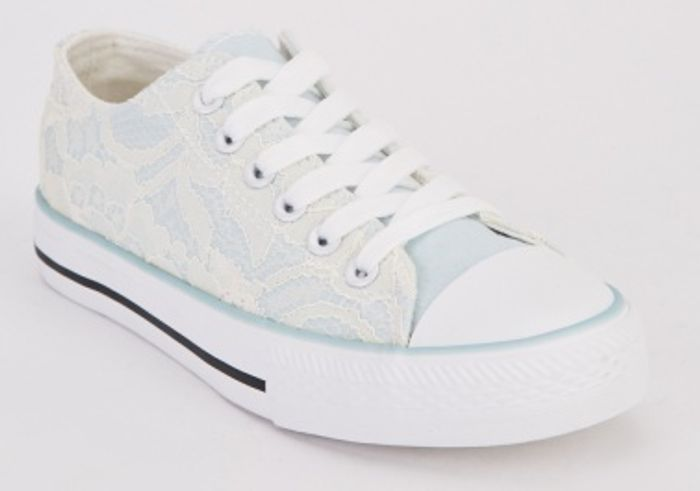 Lace Panel Sneakers at Everything 5 Pounds