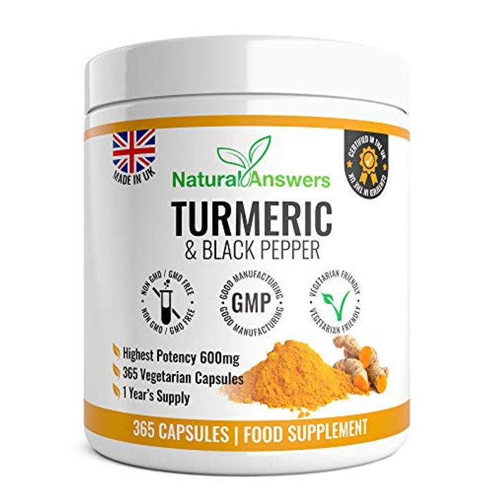 DEAL STACK - High Strength Turmeric Capsules with Black Pepper + 10% Coupon