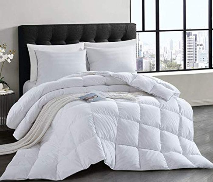 HOMBYS 100% Cotton Luxury Natural Goose down Extra Warm Duvet - Only 34.99!