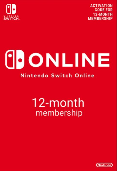 NINTENDO SWITCH ONLINE 12 MONTH MEMBERSHIP - Only £12.59!