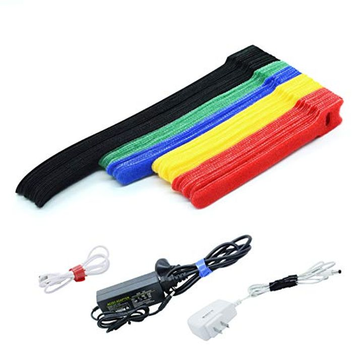 Multi-Purpose 70pcs Reusable Fastening Cable Ties with Hook & Loop - Only £1.99!