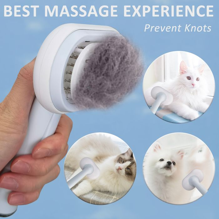 Cat Brush, 5 in 1 Pet Grooming Brush, 50%OFF - ONLY £11.49