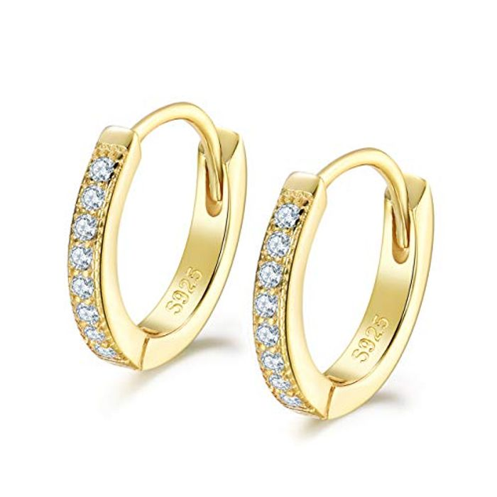 DEAL STACK - Shuxin 25 Sterling Silver Huggie Hinged Earrings + 30% Coupon