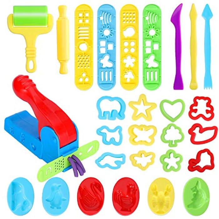 28 Pcs Playdough Tool Kit