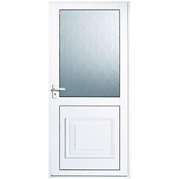 Wickes Tyne Aluminium Glazed Back Door 1981 X 762mm Right Hand