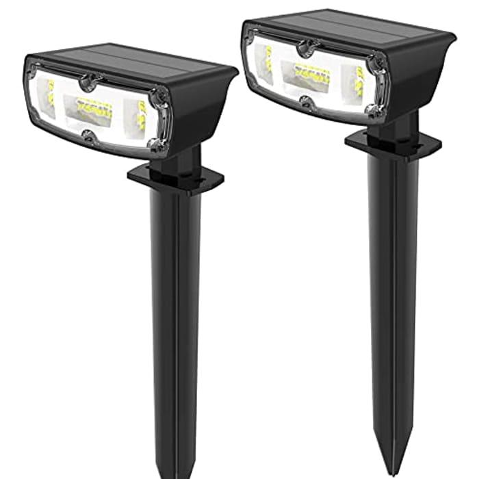 OUSFOT 2 Pack 30 LED Solar Spot Lights