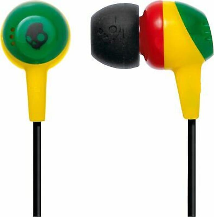 Skullcandy Jib In-Ear Headphones - Rasta with Free Del.