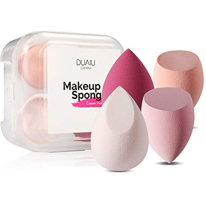 Prime Members: 4 Pack Makeup Sponge Blender with Sponge Holder Case for £3.29