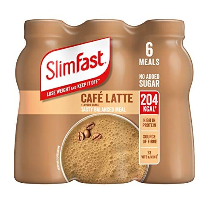 SlimFast Shake Multipack, Caf Latte, 6 X 325 Ml - Only £7.12!