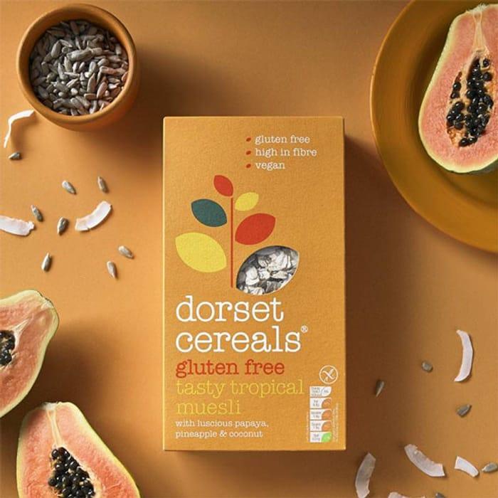 5 X Dorset Cereals Gluten Free Tropical Muesli 400g Boxes