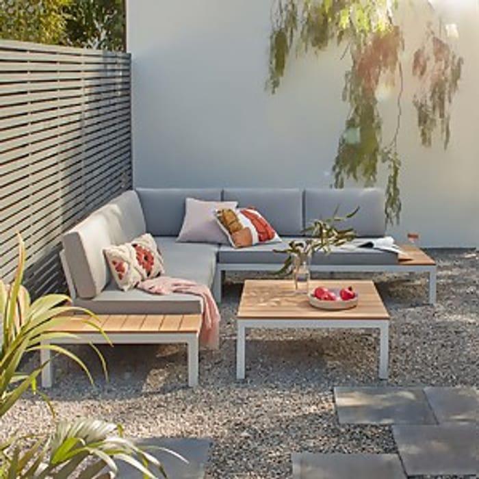 Save on Spirit Garden Corner Sofa Set - Grey
