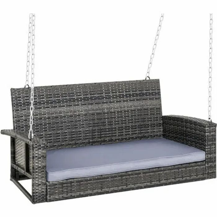2 Seater Rattan Outdoor Hanging Swing Chair