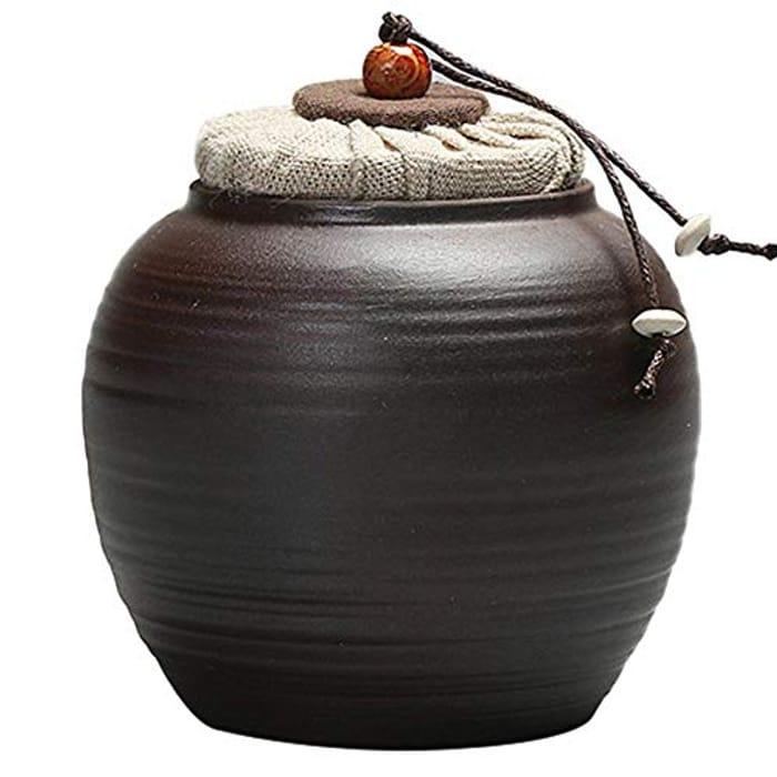 LONGTAP Traditional Ceramic Tea Jar - Only £4.08!