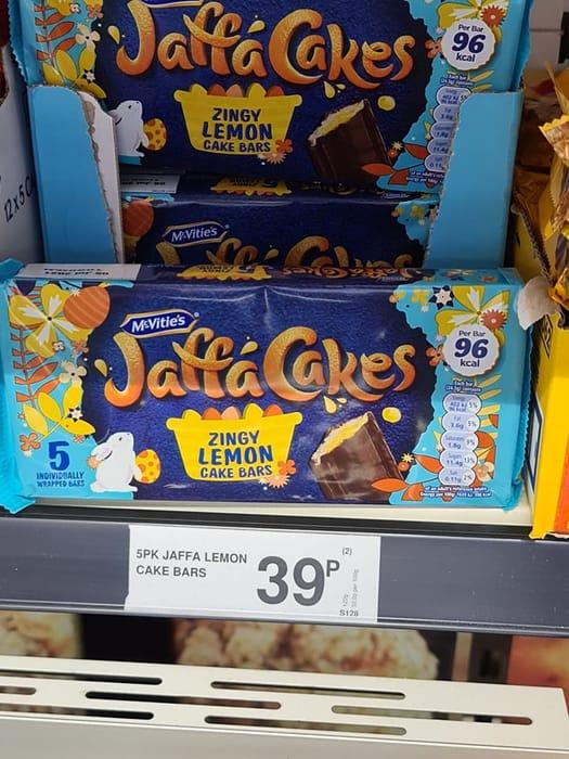 Jaffa Cakes Zingy Lemon Cake Bars - 5 Pack
