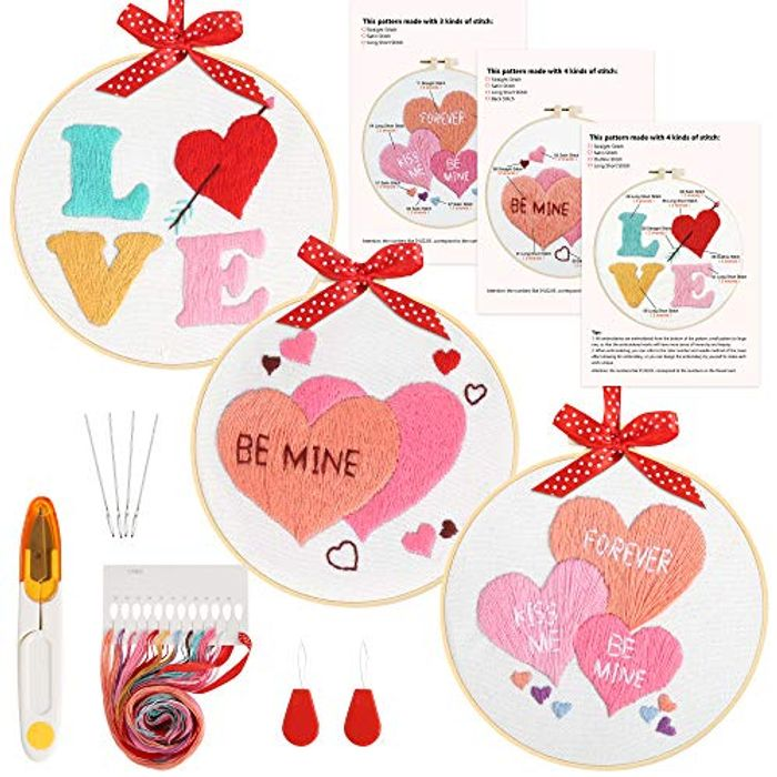 3 Sets Embroidery Starter Kit £3.99 + £4.49 NP Sold by Caydo Direct
