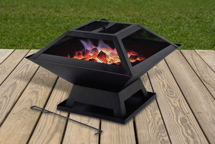 *SAVE £20* Portable Fire Pit with BBQ Grill