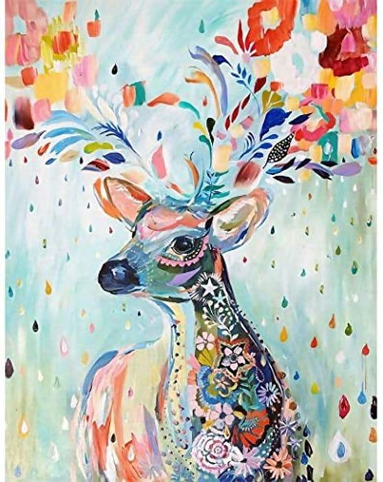 Colourful Deer - 40x30cm Diamond Painting Kit