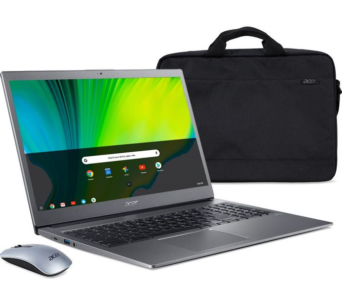 """ACER715 15.6"""" Chromebook - Intel Pentium, 128 GB eMMC, Grey"""