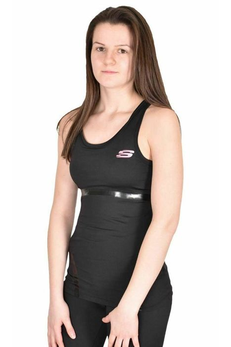 Skechers Sports Vest - Black and Pink Available