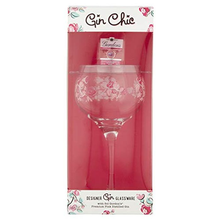 Gin Chic Decorated Glass and Gin 1 X 50ml