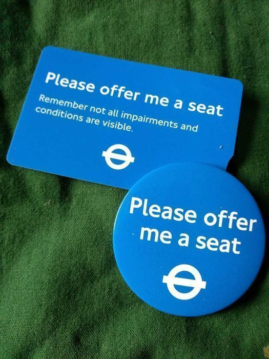 Free 'Please Offer Me a Seat' Badge and Card