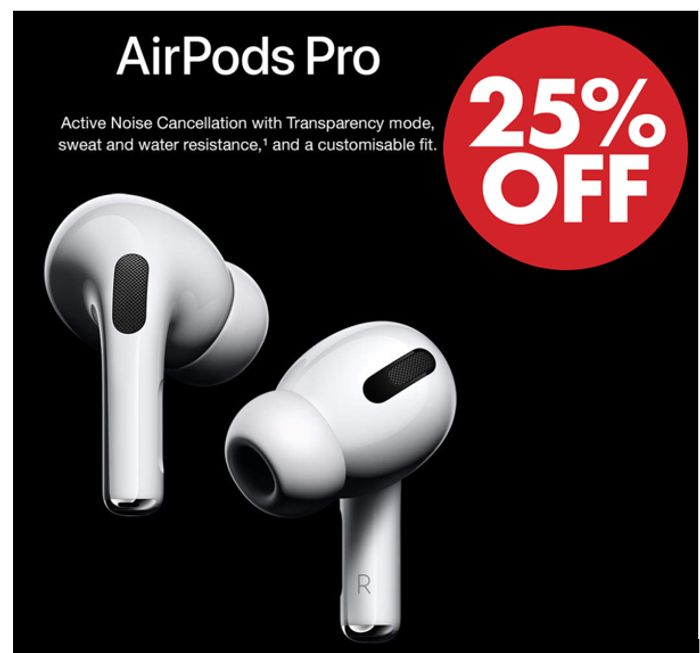 25% OFF - Apple AirPods Pro - Save £61