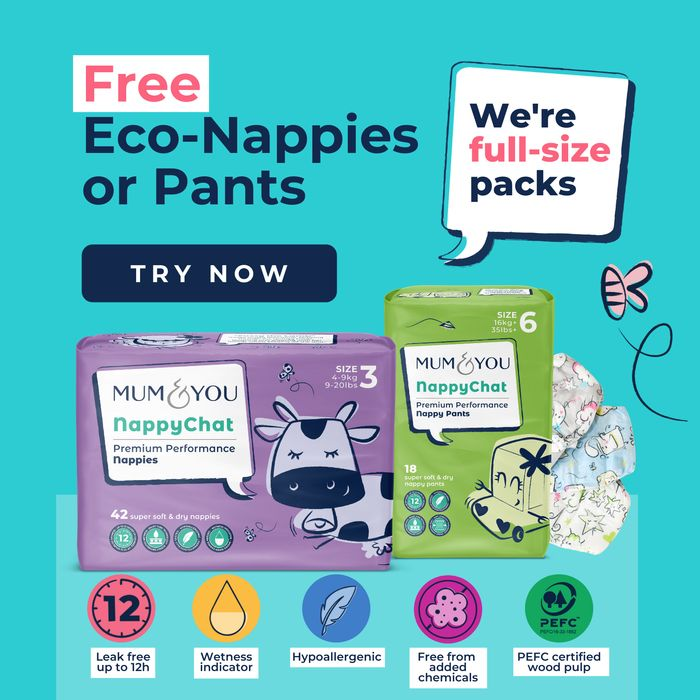 Free Mum & You Full Sized Pack of Eco Nappies or Nappy Pants