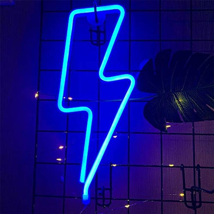 ENUOLI Lightning Bolt Neon Light - USB/Battery Powered