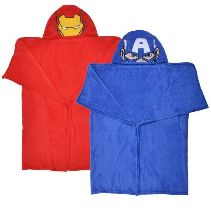 Kids Marvel Avengers Hooded Fleece Blanket Robe Iron Man