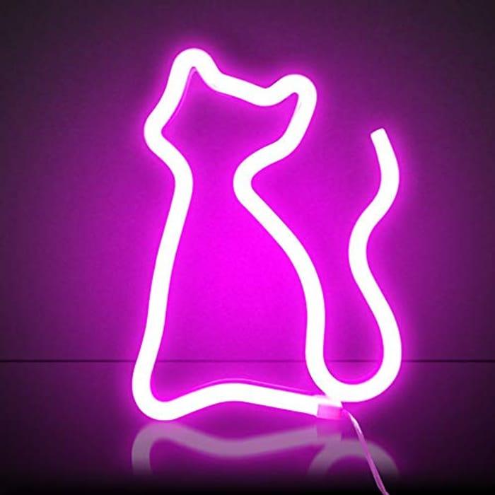 Pink Cat Neon Light