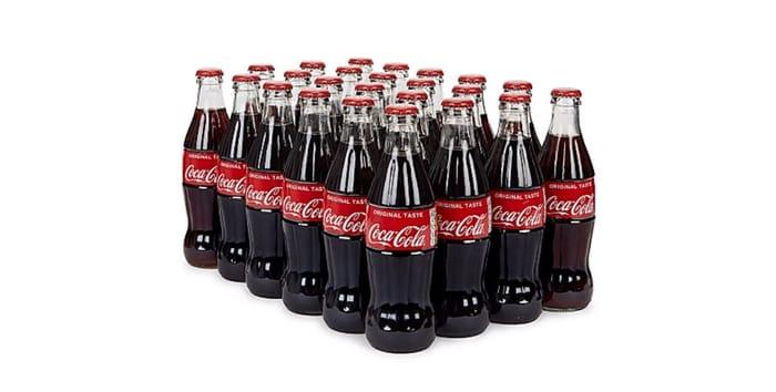 24x330ml Glass Bottles Coca Cola Farmfoods Sutton