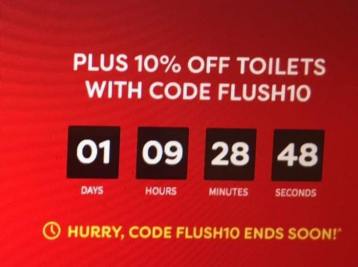 Ends Today: Save an Extra 10% off Toilets
