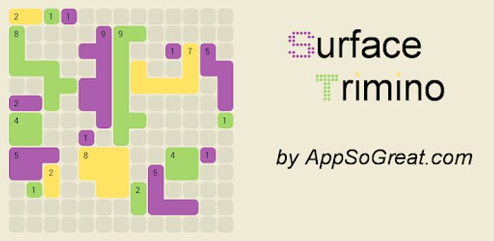 Surface Trimino: Increase the Area. Casual Game - Usually £0.79