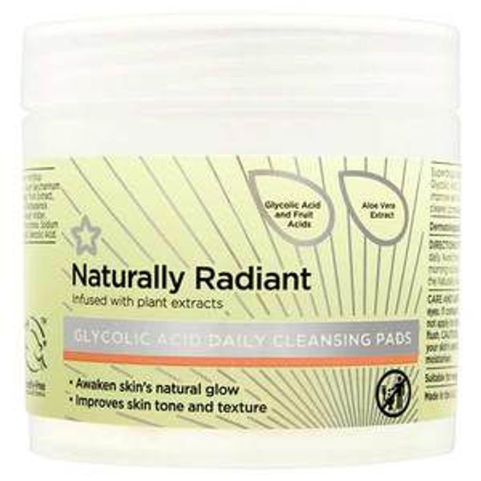 BOGOF Naturally Radiant Glycolic Acid Pads 60 - Buy 2 for £6.99