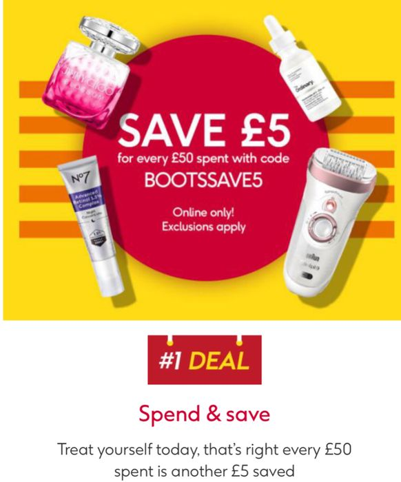 Save £5 Spend £50 on Beauty Skincare Babes,Healthcare,Toiletrie Fragrance Etc