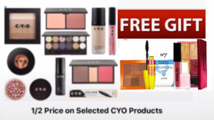1/2 Price on Selected CYO - Free Gift set spend £20 price from £2