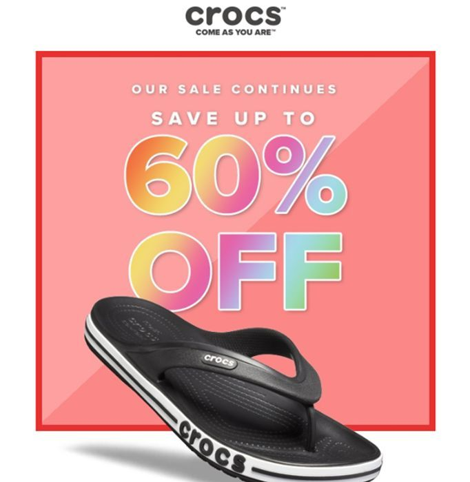 CROCS SALE - up to 60% OFF + FREE DELIVERY