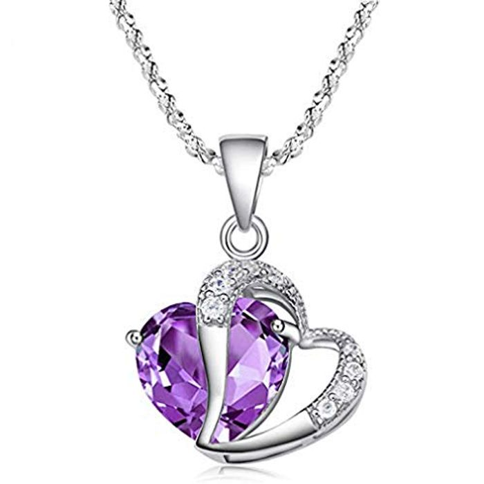 Fashion Necklace Purple Heart