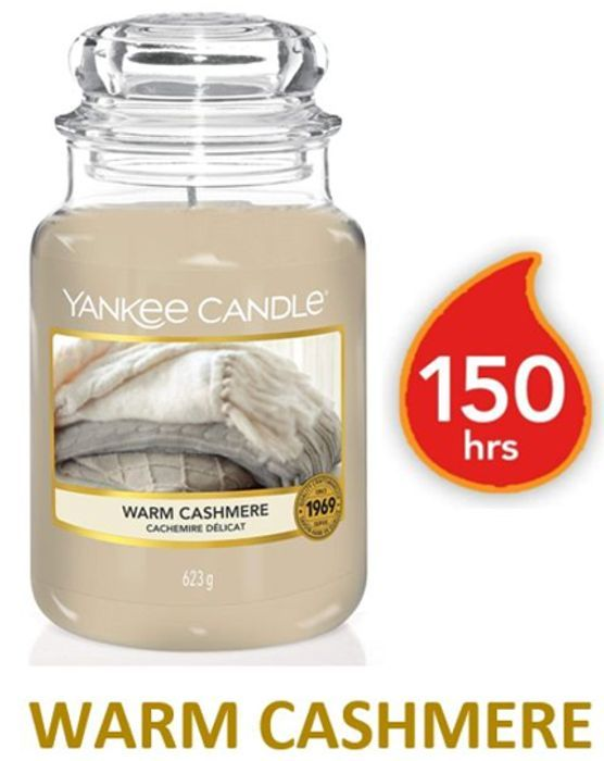 Cheap Yankee Candle Large Jar Scented Candle   WARM CASHMERE at Amazon